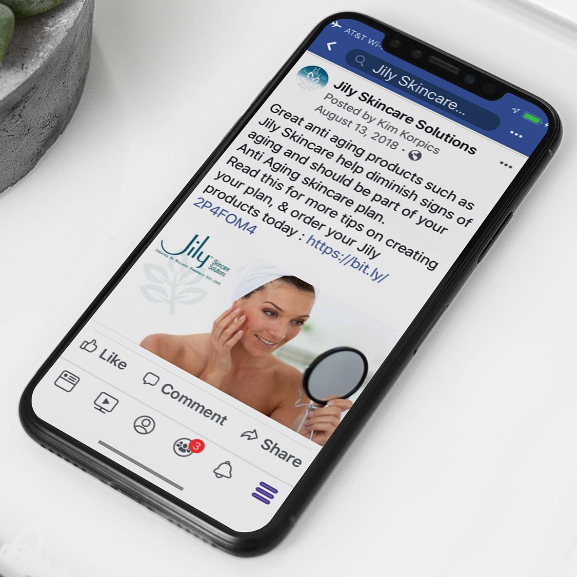 Jily Skincare Social Media
