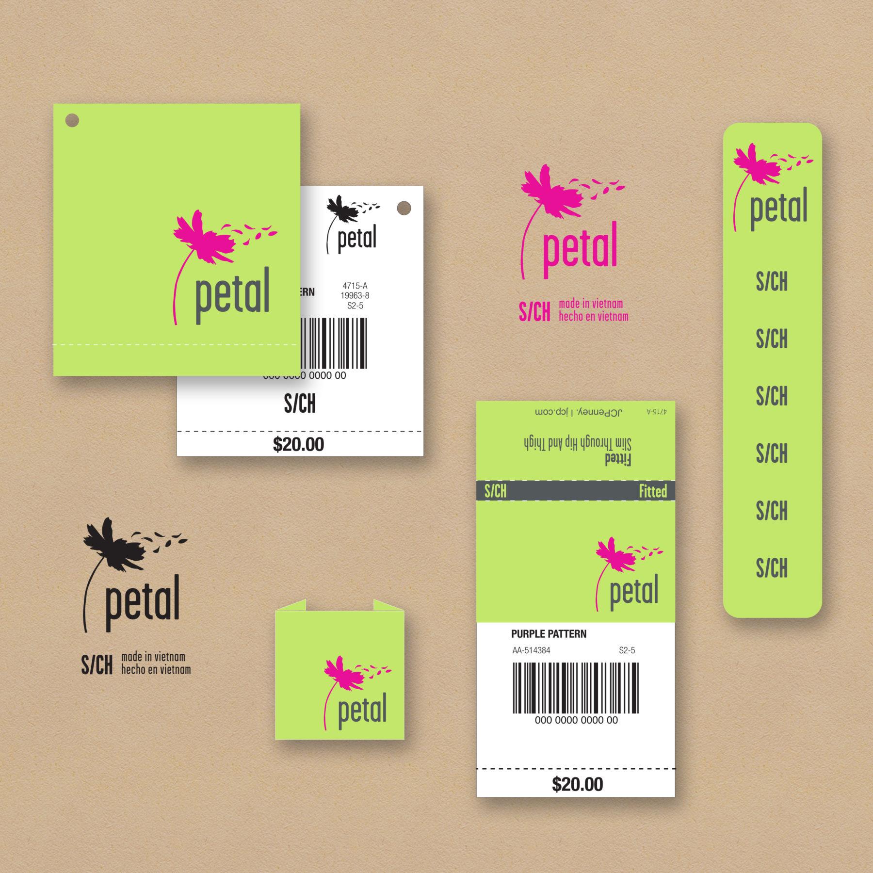 Petal Apparel branding