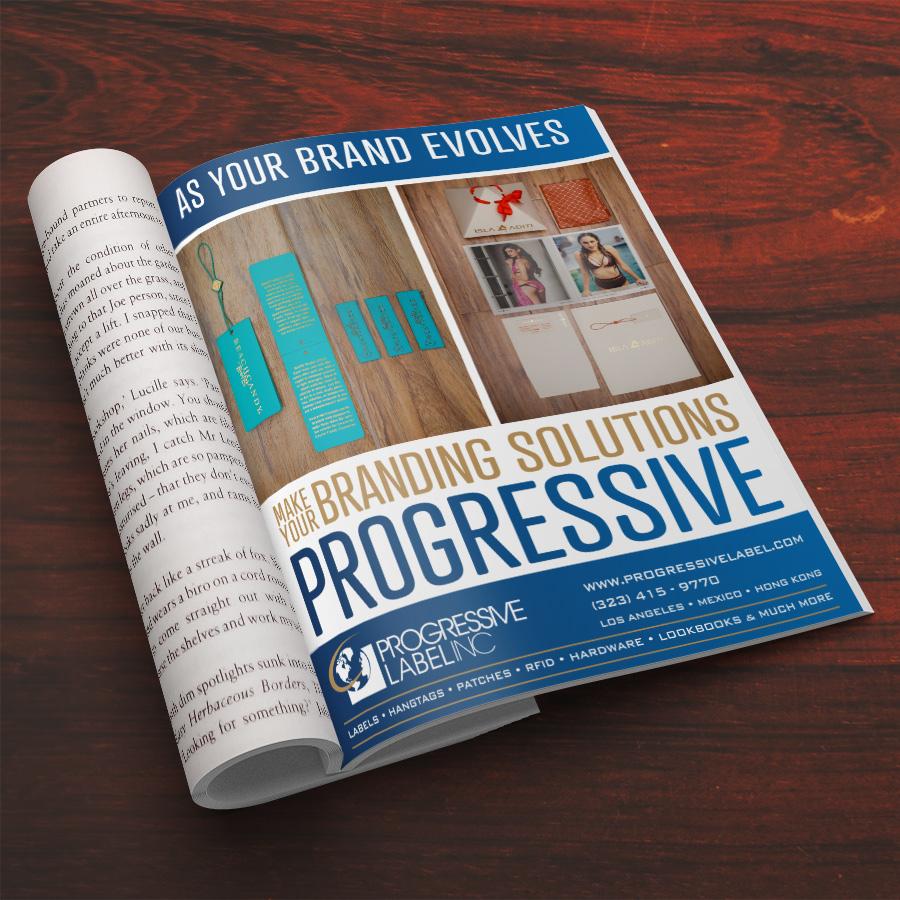 Progressive Label Ad