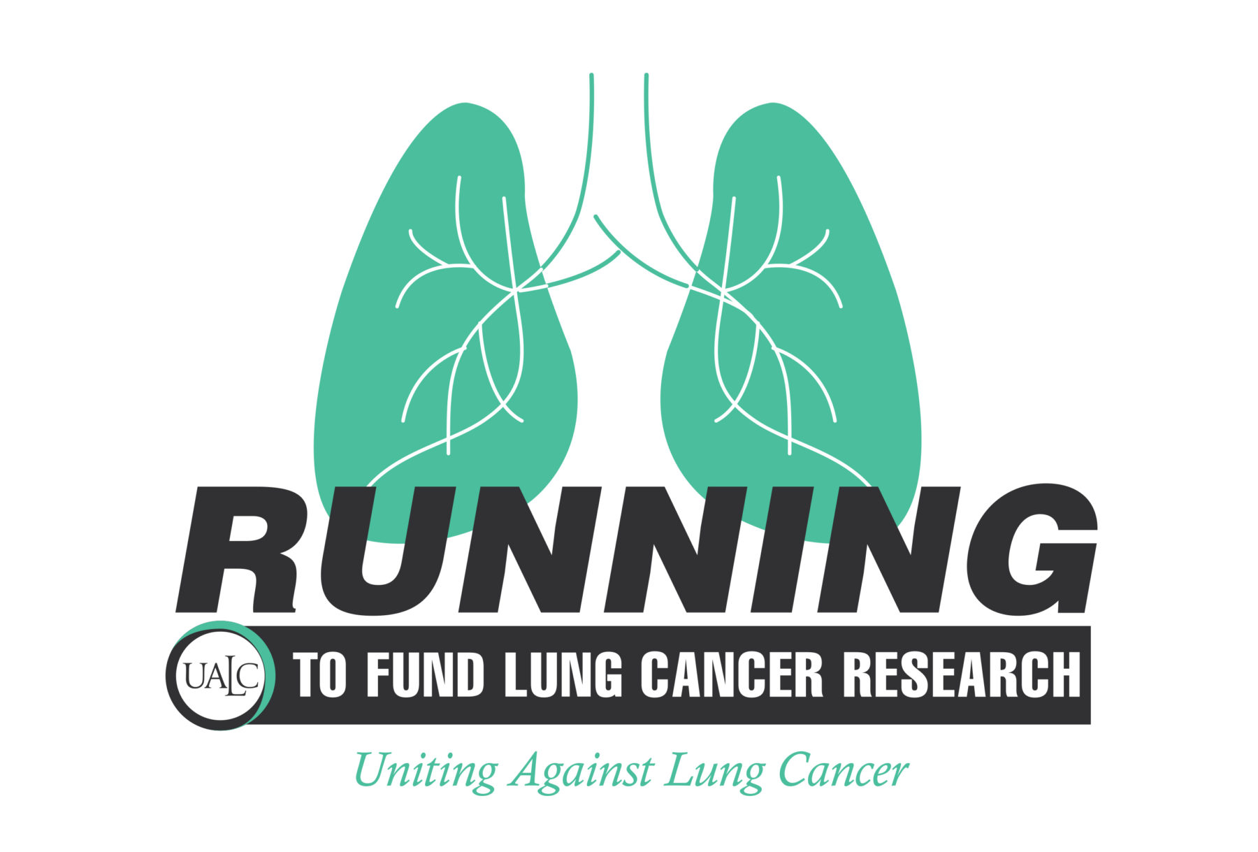 RUNNING TO FUND LUNG CABCER RESEARCH LOGO